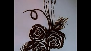 getlinkyoutube.com-Rose henna design without pressure and release technique