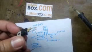getlinkyoutube.com-Cara buat LED Driver 10 watt pakai ic L7810CV