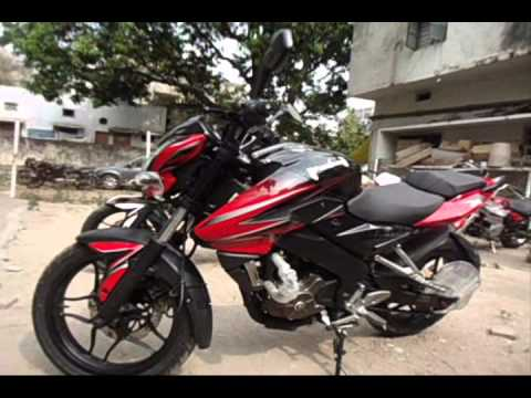 BAJAJ PULSAR 200 NS 2014 MODEL WALK AROUND (DUAL TONE PAINT SCHEME AND BOLDER GRAPHICS)