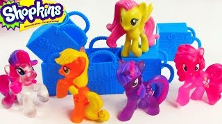 getlinkyoutube.com-MLP Shopkins 5 Pack Mystery Surprise Blind Bag My Little Pony Toy Review Opening