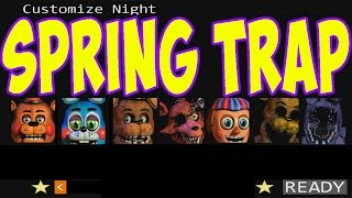 getlinkyoutube.com-5 Nights at Freddy's 2 - SPRING TRAP custom mode with SHOUTOUTS