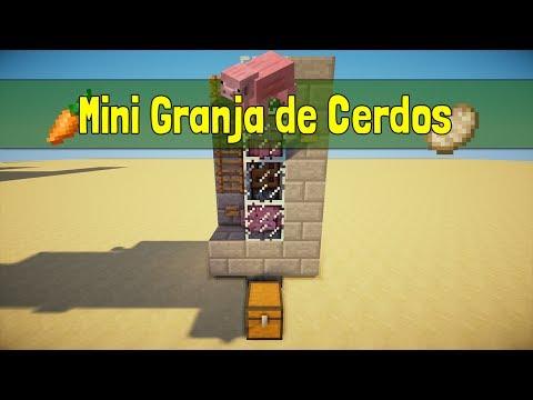 Minecraft | Mini Tutorial: Cómo hacer una Granja de Cerdos [SEMI-AUTOMATICA] [COCINA LA COMIDA]