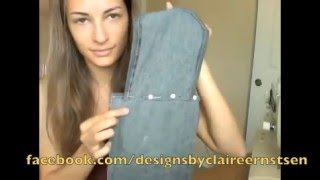 getlinkyoutube.com-DIY Messenger Bag from Jeans! EASY Tutorial