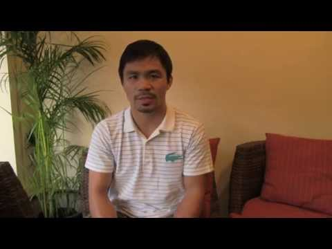 Manny PACMAN Pacquiao Congratulates Thorsten HITMAN Hohmann For Winning 2014 PACMAN CUP