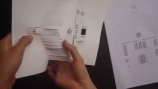 "getlinkyoutube.com-Pop Up "" Little House "" Card #2 Tutorial - Origamic Architecture"