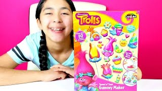 getlinkyoutube.com-GUMMY CANDY DIY Trolls Sweet n Sour Gummy Maker | B2cutecupcakes