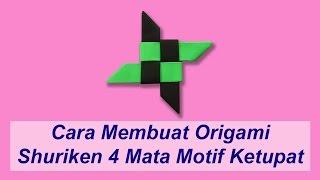 getlinkyoutube.com-Cara Membuat Origami Shuriken 4 Mata Motif Ketupat