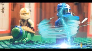 LEGO: Ninjago Rebooted 2014 Battle Torunament Jay VS TMNT Leo (Brickfilm)