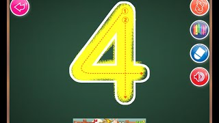 getlinkyoutube.com-Learn to write Number from 1 to 20  with ABC 123 Android App.
