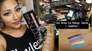 getlinkyoutube.com-One Brand Tutorial : LA Girl Cosmetics FULL Makeup Tutorial + Swatches - Alexisjayda