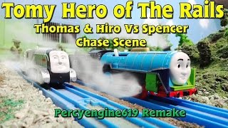 getlinkyoutube.com-Tomy Hero of The Rails: Hiro & Thomas vs Spencer Chase Scene