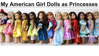 getlinkyoutube.com-American Girl Dolls as all 13 Disney Princesses ~HD PLEASE WATCH IN HD~
