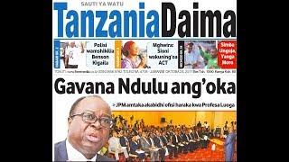 MAGAZETI LIVE: Vigingi sita kwa Gavana mpya BOT, JPM wapuuzeni