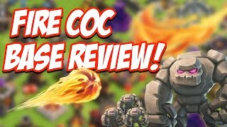 getlinkyoutube.com-Clash of Clans FIRE TUNNEL Base Review Clash of Clans Attacks!