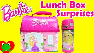 getlinkyoutube.com-Lunch Box Surprises with Barbie Lunch Bag includes Shopkins, My Little Pony