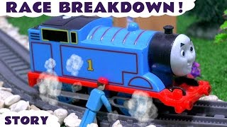 getlinkyoutube.com-Thomas and Friends Toy Trains Race Accident Breakdown with Engineer's Tool Kit - Fun for kids TT4U