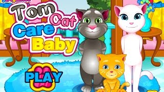 getlinkyoutube.com-❤แมวพูดได้เลี้ยงลูกสุดน่ารัก Tom Cat Care Baby❤