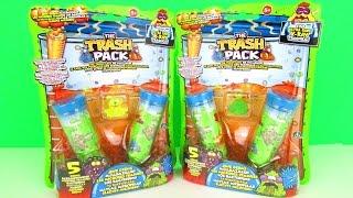 getlinkyoutube.com-Surprise Trash Pack Series 7 Junk Germ 5-Packs Unboxing & Toy Review