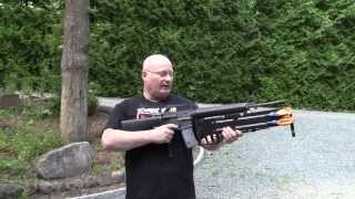 getlinkyoutube.com-Double Barrel Knife Launcher for the M16 Assault Rifle