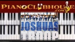 RIGHT NOW I'M SAVED (Joshua's Troop) - easy gospel piano lesson tutorial