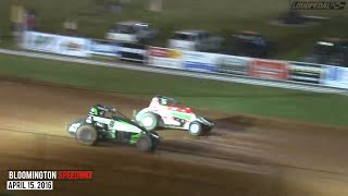 getlinkyoutube.com-Highlights: USAC AMSOIL National Sprint Cars at Bloomington Speedway - April 15, 2016