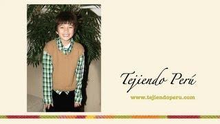 getlinkyoutube.com-Chaleco tejido en dos agujas o palillos para niños de 7 a 9 o 10 años