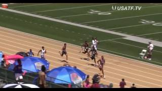 Ashton Allen USATF JO's 2016 200m 14yr old Boys National Record