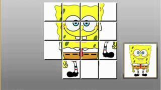 getlinkyoutube.com-SpongeBob Slider Puzzle