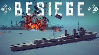 getlinkyoutube.com-Besiege Best Creations - Torpedo Missile vs Battleship, Trash Cannon & More! - Besiege Highlights