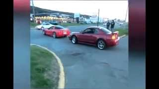 getlinkyoutube.com-Corvette Cuts off Traffic,  Does Donuts - Wreckless Driving, Kenmount Rd, St. John's Newfoundland