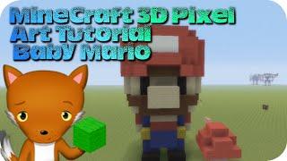 getlinkyoutube.com-MineCraft 3D Pixel Art Tutorial - Baby Mario