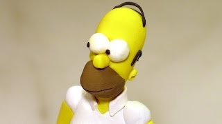 getlinkyoutube.com-Making polymer clay Homer Simpson (THE SIMPSONS)