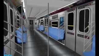 getlinkyoutube.com-OpenBVE: R142B (2) Train (Chambers St to 14st)