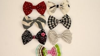 DIY: No-Sew Fabric Hair Bows | ShowMeCute