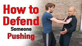 How to defend someone pushing you