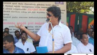 getlinkyoutube.com-Lingaa Distributors Hunger Fast Demanding Compensation for Loss   Mansoor Ali Khan Speech