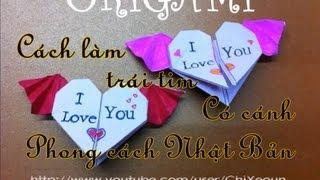 getlinkyoutube.com-[HD]♥Cách xếp trái tim có cánh-phong cách Nhật Bản ♥ Origami heart with wings