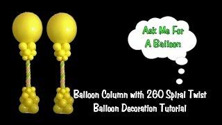 getlinkyoutube.com-Balloon Column 260 Spiral Twist - Balloon Decoration Tutorial