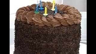 getlinkyoutube.com-تورتة بكريمة الشوكولاتة - مطبخ منال العالم