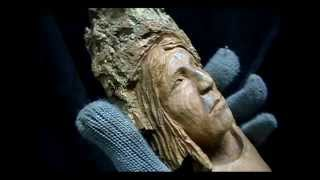 Carving an American Indian woman