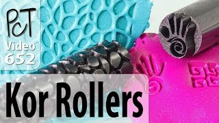 getlinkyoutube.com-Polymer Clay Pattern Rollers & Stamps From Kor Tools