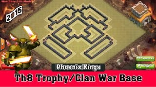 getlinkyoutube.com-Th8 Trophy/Clan War Base | Phoenix Kings | Clash of Clans [2015]