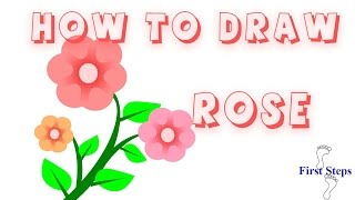 getlinkyoutube.com-تعليم الرسم للأطفال   طريقة رسم زهرة خطوة بخطوة للأطفال          How to Draw a rose   for Kids
