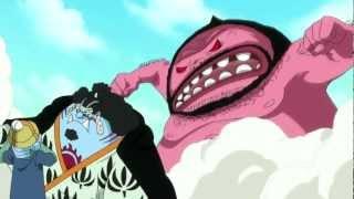 getlinkyoutube.com-One Piece Amv Sanji & Jimbei vs Wadatsumi (Millennium Stratovarius) Complete Fight