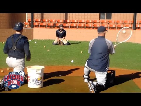 Tennis Racket Blocking Drill from Tom Griffin at CatcherCON 2015