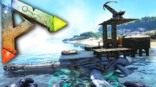 getlinkyoutube.com-Ark Survival Evolved Ep20 - BATTLE SHIP! - Ballista Plesi Platform Saddle Base Gameplay