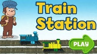 getlinkyoutube.com-Curious George Train Station-Full Episode English Education (2014)