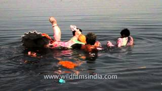 Marking the last day of Ganesh Chaturthi