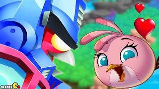 getlinkyoutube.com-Angry Birds Stella - Angry Birds Transformers Crossover The Eggspark Walkthrough Part 20
