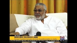 Rawlings Eulogizes KABA - AM News on JoyNews (13-12-17)